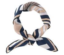 Tuch Aura aus Seide gemustert blau-grau