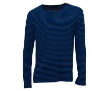 Langarmshirt Tobias in dunkelblau/blau geringelt