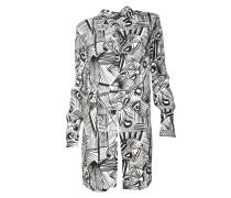 Kleid Arona mit Print in Schwarz-Weiss