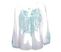 Bluse Ruchi white/turquoise