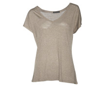 Shirt Maly in Taupe mit Glitzerfäden