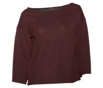 Pullover in dunklem Beerenrot