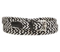 Flechtgürtel black-white