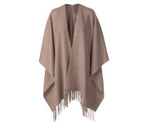 Poncho Solid-Cape aus Wolle in Camel
