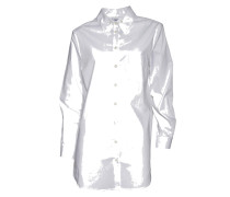 Bluse Cotton Button Down in Weiss