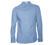 Hemd Peter Washed in Grau-Blau