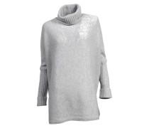 Oversize-Pullover aus Kaschmir in Hellgrau