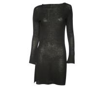 Kleid Rib Knit Tunic in Schwarz