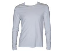 Langarm-Shirt Mden in Weiss