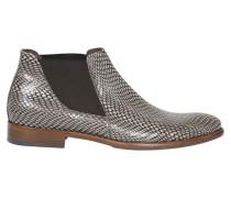 Chelsea Boots in Schlangen-Optik
