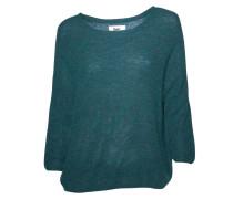 Pullover mit Rundhalsausschnitt grün meliert
