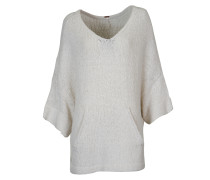 Oversize Pullover in Weiss