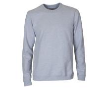 Sweatshirt in Grau meliert