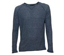 Pullover Craik in Blau-Meliert