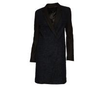 Mantel mit Wolle blue/ black