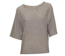 Shirt Cara in weiß-schwarz geringelt