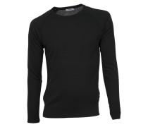 Pullover Noah mit Seide in Schwarz