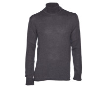 Pullover M. Mohair Cotton Rollerneck inox