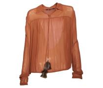 Bluse aus Viskose in Rostbraun