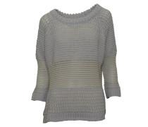 Pullover Paula in Hellgrau-Gelb