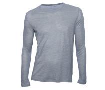 Shirt aus Leinen & Seide hellgrau meliert