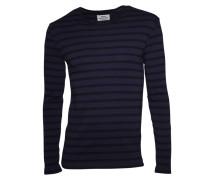 Sweatshirt Tobias dunkelblau-schwarz gestreift
