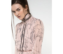 Kleid aus bedrucktem Seidengeorgette