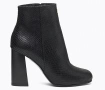 Stiefel aus Leder mit Pythoneffekt