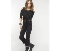 Jeans mit hoch sitzender Taille
