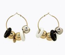 Ohrringe mit Harzeinsätzen