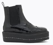 Stiefel aus glänzendem, geschmirgeltem Leder