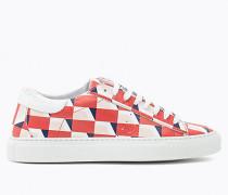 Sneakers aus bedrucktem Leder