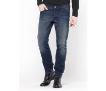 5-Taschen-Skinny-Hose aus indigofarbenem Denim-Stretch