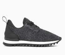 Flache Sneakers aus Netzstoff