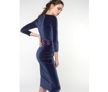 Kleid aus Stretch-Samt