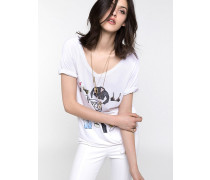 Oversize-T-Shirt mit Aufdruck