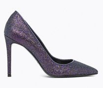 Pumps mit All-Over-Glitzer