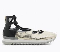 Ballerina-Sportschuhe aus Leder