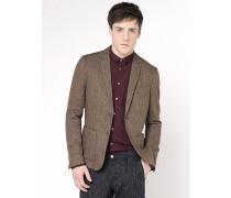 Lässige Jacke mit 2 Knöpfen aus Flanell mit unregelmäßigem Muster
