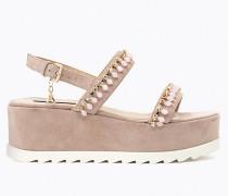 Sandale aus Waschleder