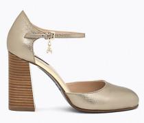 Metallisierte Mary Jane-Schuhe