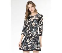 Kurzes Kleid aus bedrucktem technischem Jersey