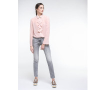 Jeans mit Mikronieten