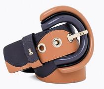 Gürtel mit Maxi-Schnalle aus Plexiglas