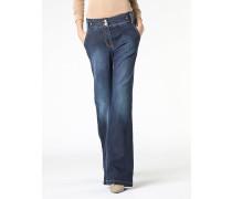 5-Taschen-Jeans mit weit geschnittenem Bein