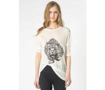 Oversize-T-Shirt mit Paillettenbesatz