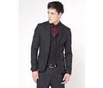 Klassische Jacke mit 2 Knöpfen aus Flanell mit unregelmäßigem Muster