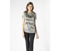 T-Shirt aus Satingemisch