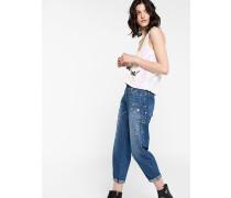 Jeans mit tief sitzendem Schritt