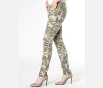 Slim-fit-Hose mit 5 Taschen aus Baumwollstretch